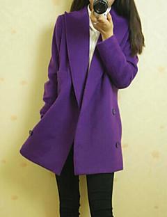 kakani женщин европейская мода сплошной цвет длинный рукав пальто