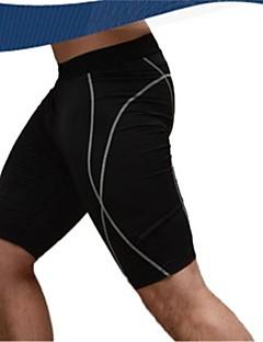 לגברים ריצה מכנסיים קצרים מכנסיים תחתיות נושם ייבוש מהיר דחיסה תומך זיעה אביב קיץ סתיו כושר גופני רכיבה על אופניים/אופניייםפוליאסטר