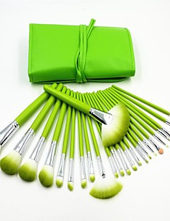 24PCS 신선한 녹색 전문 고품질 메이크업 브러쉬 세트