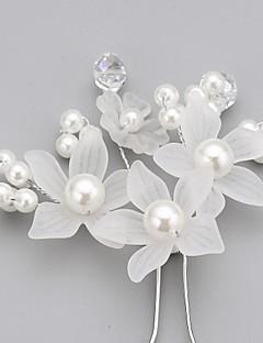 Dame Blomsterpige Krystal Legering Imiteret Perle Akryl Medaljon-Bryllup Speciel Lejlighed Hårnål