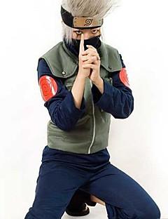 geinspireerd door Naruto Hatake Kakashi Anime Cosplay Kostuums Cosplay Kostuums Patchwork  Groen Vest / Top / Broeken