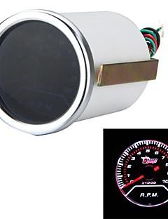 "2"" 52mm Car Auto Tacho Tachometer Gauge White LED Display Meter 0-10000 RPM Motor Guage"