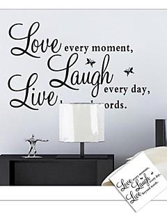 muurstickers muur stickers, leef liefde engels woorden&citeert pvc muurstickers