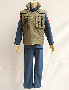קיבל השראה מ Naruto Hatake Kakashi אנימה תחפושות קוספליי חולצות קוספליי / תחתון טלאים ירוק בלי שרוולים וסט