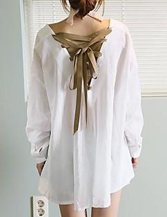 Fashion V du cou chemises de coton élégant des femmes