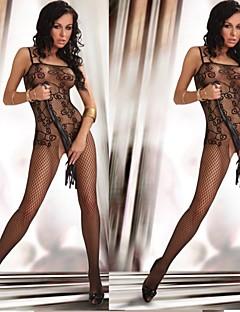 une pièce de voir à travers les femmes dentelle noire de nuit uniforme sexy