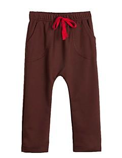 Ensfarvet Drengens Bukser Alle årstider Bomuldsblanding