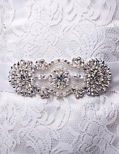 女性のエレガントなファッション薄いサテンの花のラインストーン真珠ベルト(色以上)