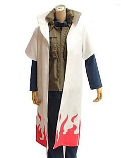 geinspireerd door Naruto Cosplay Anime Cosplay Kostuums Cosplay Kostuums Patchwork  Wit Halve Mouw Mantel