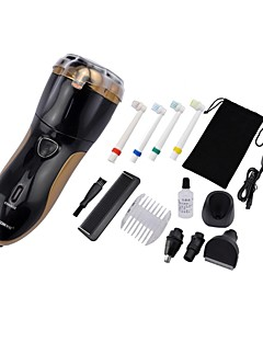 Shaving and Hair Removal Set with Washable Shaver/Hair Clipper/Vibrissa Clipper/Electronic Toothbrush