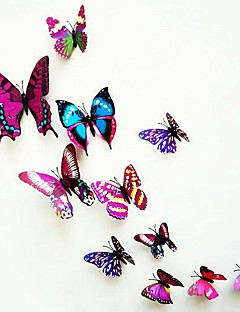 Wall Stickers, Modern City Life PVC Stereo Purple Butterfly Wall Stickers