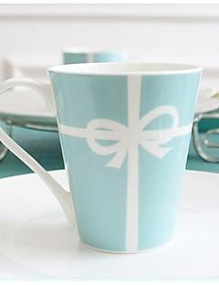 """Tiffany kreativen Hochzeitsgeschenk der Schalenmilchschalen-Kaffeetasse Löffel Tasse Kaffee Porzellan-3.4 """"* 3.4"""" * 3.9 """""""
