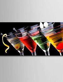 e-Home® opgespannen doek kunst wijnglas decoratie schilderij