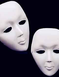 1pcs halloween weiß Streetdance-Maske mit Band (21x15cm)