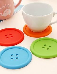 1 PCS Silicone Pyöreä Coasters