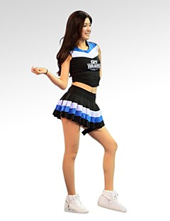 Shall We Cheerleader Costumes Outfits Women Performance / Training Cotton / Polyester Sleeveless Natural 70CM