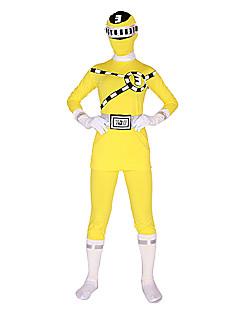 Power Ranger GoGo Sentai Boukenger Bouken Yellow Zentai Cosplay Costume