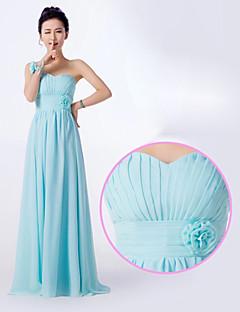 Vestido de Madrinha Linha-A Assimétrico Longo