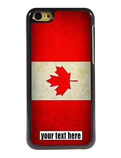 아이폰 5C에 대한 개인의 경우 캐나다 국기 디자인 금속 케이스