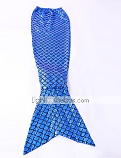 Blue Fish Scale Pattern Mermaid Tail Cosplay Party Costume