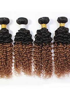 """4Pcs/Lot Top Quality Remy Brazilian Jerry Curly Human Hair Extension 1B/30 Ombre Hair 12""""-24"""""""