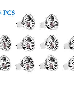 Spot LED Blanc Chaud / Blanc Naturel 10 pièces GU10 4W 3 LED Haute Puissance 220 LM AC 100-240 V