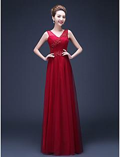 Formal Evening Dress Sheath / Column Straps Floor-length Chiffon with