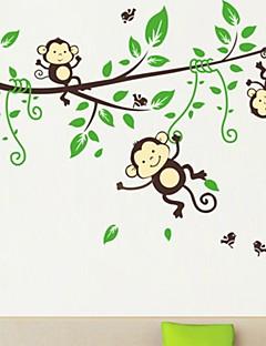 Tiere Cartoon Design Wand-Sticker Flugzeug-Wand Sticker Dekorative Wand Sticker,Vinyl Stoff Repositionierbar Haus Dekoration Wandtattoo