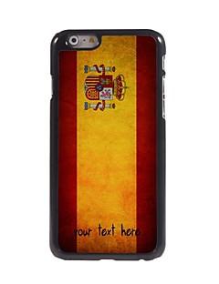 """caixa personalizada bandeira espanhola caso design de metal para iphone 6 (4.7 """")"""