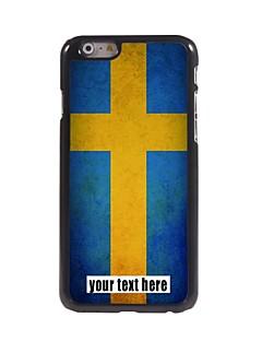 "caixa personalizada sueco caso do projeto da bandeira de metal para iphone 6 (4.7 "")"