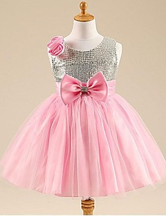 Ball Gown Scoop Knee-length Tulle Flower Girl Dress