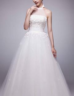 웨딩 드레스 - 화이트 볼 가운 스위프/브러쉬 트레인 하이넥 튤