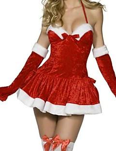 Costumes - Costumes de père noël - Féminin - Noël - Robe/Gants/Chapeau