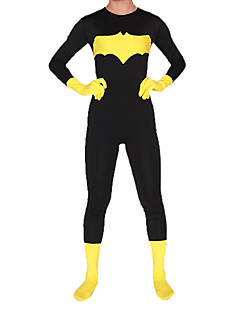 Batman Nightwing Black and Yellow Velvet Zentai Suit