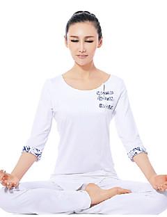 etnische witte elegante yoga fitness pakken