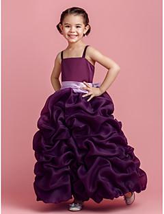 Ball Gown Floor-length Flower Girl Dress - Organza Sleeveless
