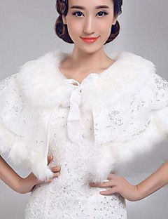패션 가짜 모피 진주 결혼식 (무료 크기, 더 많은 색상) 볼레로 어깨를 으쓱 랩