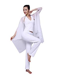 vrouwen wit yoga fitness mouwloze kleding past bij 3 sets
