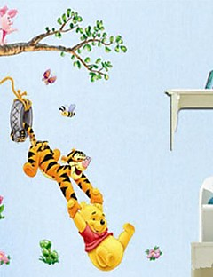 Environmental Removable Happy Tiger PVC Wall Papaer