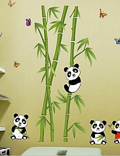 panda extraíble ambiental y etiquetas de pvc de bambú&etiqueta engomada