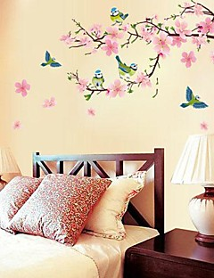 / sala de estar / tv pegatina pared de fondo dormitorio en forma romántica flor de cerezo