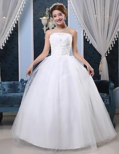 Ball Gown Floor-length Wedding Dress -Strapless Tulle