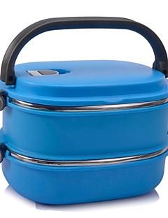 neje 2-Schicht-Edelstahl-Isolierbox Lunchbox mit Griff