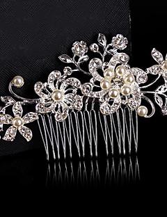 Kadın Çiçekçi Kız Saf Gümüş alaşım Başlık-Düğün Özel Anlar Saç Tarakları Çiçekler