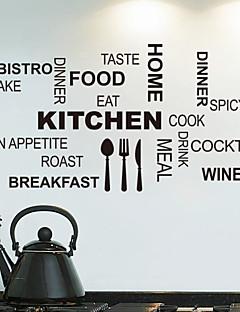 Wall Stickers Vægoverføringsbilleder, køkken engelske ord&citerer pvc wall stickers