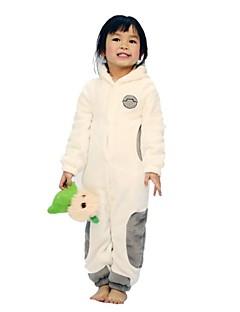 Kigurumi Pajamas Cartoon Leotard/Onesie Halloween Animal Sleepwear White Print Coral fleece Kigurumi Kid Halloween