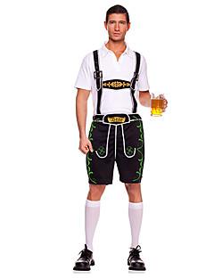 Cosplay Kostüme Party Kostüme Oktoberfest/Bier Kellner/Kellnerin Karriere Kostüme Fest/Feiertage Halloween Kostüme Braun Grün Patchwork