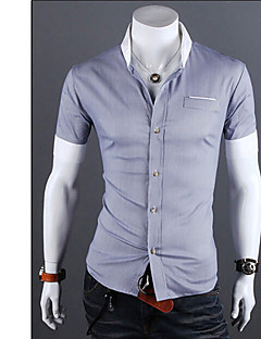 pelicans,Men's Vintage/Casual/Party/Work Short Sleeve Casual Shirts (Cotton/Rayon)