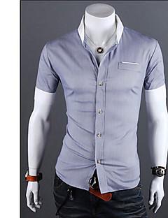 Vintage/Informeel/Feest/Zakelijk MEN - Vrijetijds shirts ( Katoen/Rayon )met Korte Mouw