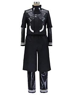 Inspirerad av Tokyo Ghoul Ken Kaneki Animé Cosplay Kostymer/Dräkter cosplay Suits Lappverk Svart Lång ärm Kappa / Leotard / Byxor